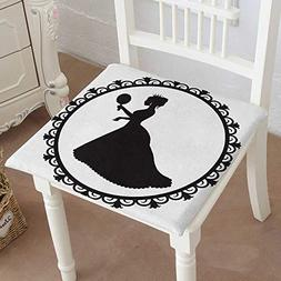 Mikihome Chair Pads Square Cotton Chair Cushion Princess Cro