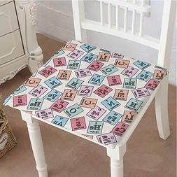 Mikihome Premium Comfort Seat Cushion Table Sketch Style Che