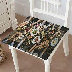 Mikihome Premium Comfort Seat Cushion Table with Food top Vi