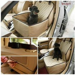 Dog Car Booster Seat Luxury Waterproof Front Seat Cover Delu