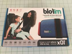 MiFold Grab-and-Go Car Booster Seat  Denim Blue NEW