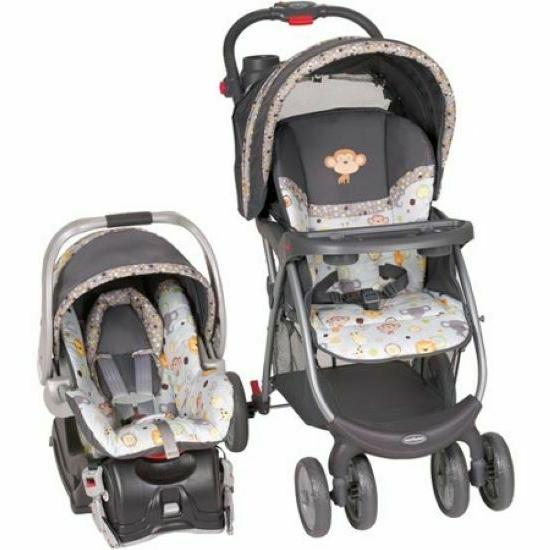 Fast Action Fold Stroller and Infant Car Seat Travel System